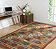 Jaipur Rugs - Flat Weave Jute Red and Orange PX-2109 Area Rug Roomscene shot - RUG1091586