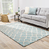 Jaipur Rugs - Hand Tufted Wool and Viscose Blue TAQ-4004 Area Rug Roomscene shot - RUG1071350