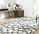 Jaipur Rugs - Hand Tufted Wool and Viscose Grey and Black TAQ-6051 Area Rug Roomscene shot - RUG1060790