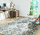 Jaipur Rugs - Hand Tufted Wool and Viscose Grey and Black TQR-4021 Area Rug Roomscene shot - RUG1076073