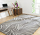 Jaipur Rugs - Hand Knotted Wool and Bamboo Silk Grey and Black YNB-06 Area Rug Roomscene shot - RUG1055014