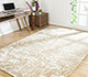 Jaipur Rugs - Hand Knotted Wool and Bamboo Silk Beige and Brown YNB-09 Area Rug Roomscene shot - RUG1055021